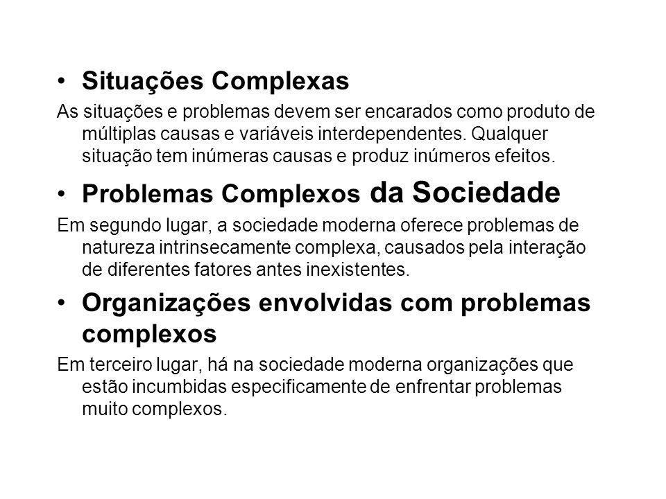 Problemas Complexos da Sociedade