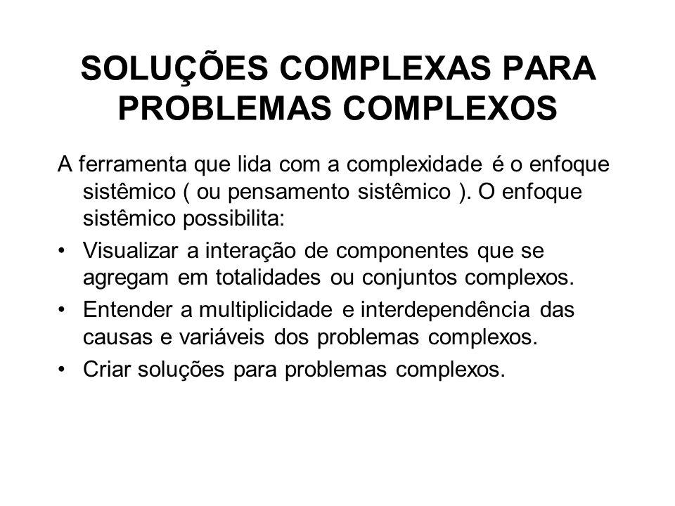 SOLUÇÕES COMPLEXAS PARA PROBLEMAS COMPLEXOS