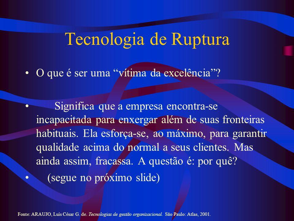 Tecnologia de Ruptura O que é ser uma vítima da excelência