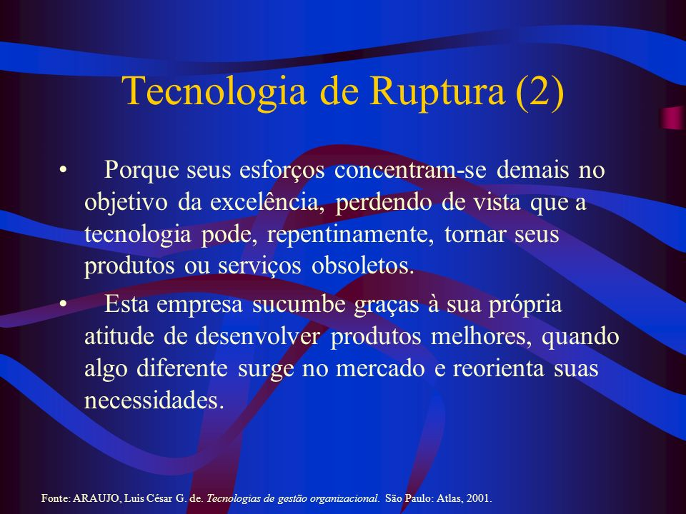 Tecnologia de Ruptura (2)