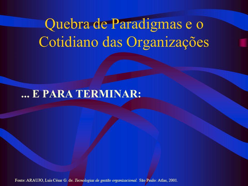 Quebra de Paradigmas e o Cotidiano das Organizações