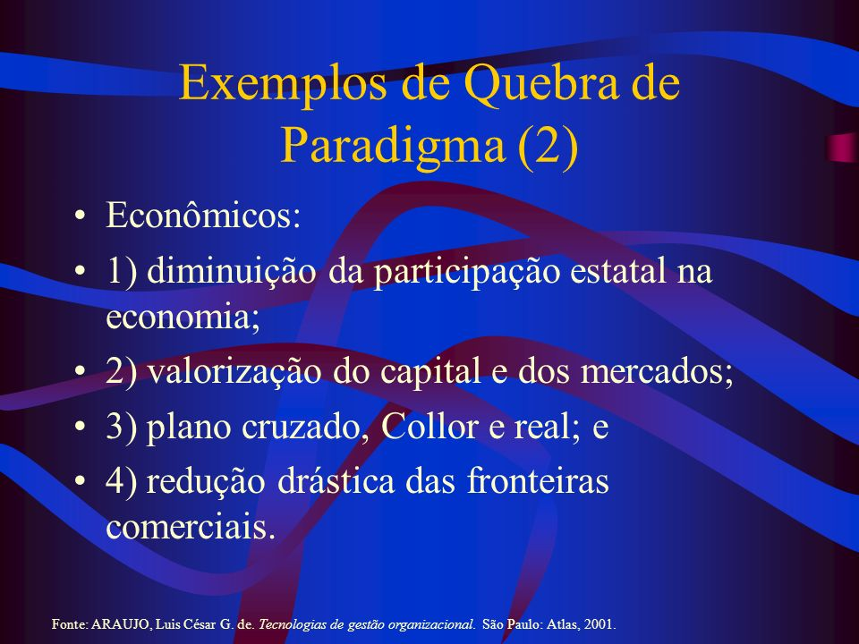 Exemplos de Quebra de Paradigma (2)