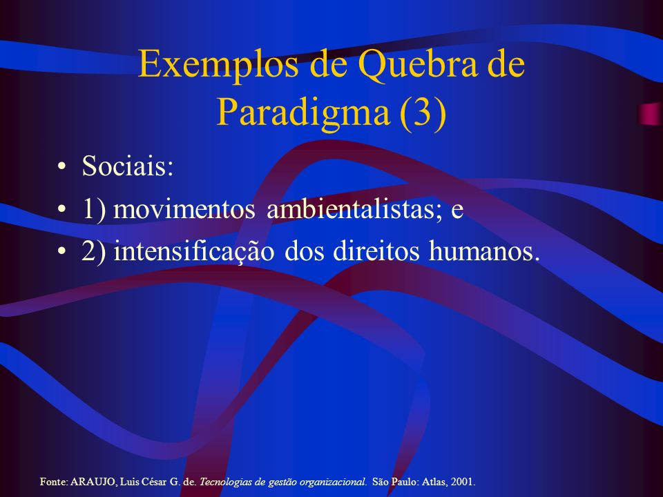 Exemplos de Quebra de Paradigma (3)