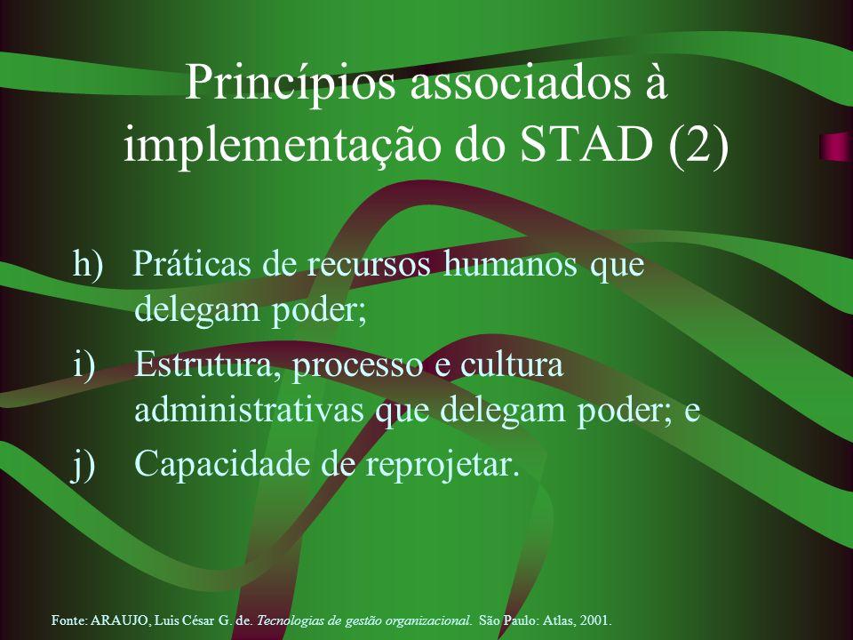 Princípios associados à implementação do STAD (2)