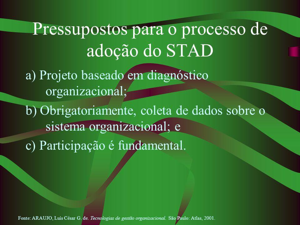 Pressupostos para o processo de adoção do STAD