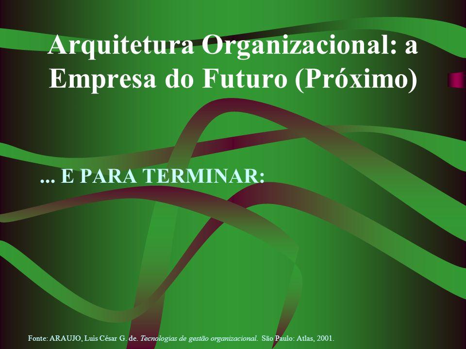 Arquitetura Organizacional: a Empresa do Futuro (Próximo)
