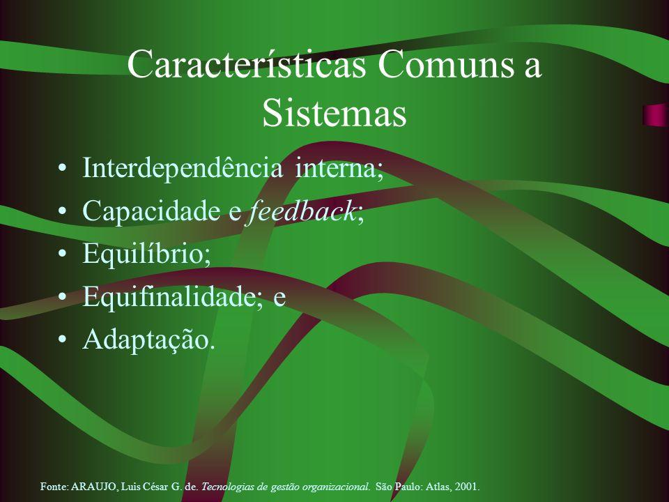 Características Comuns a Sistemas