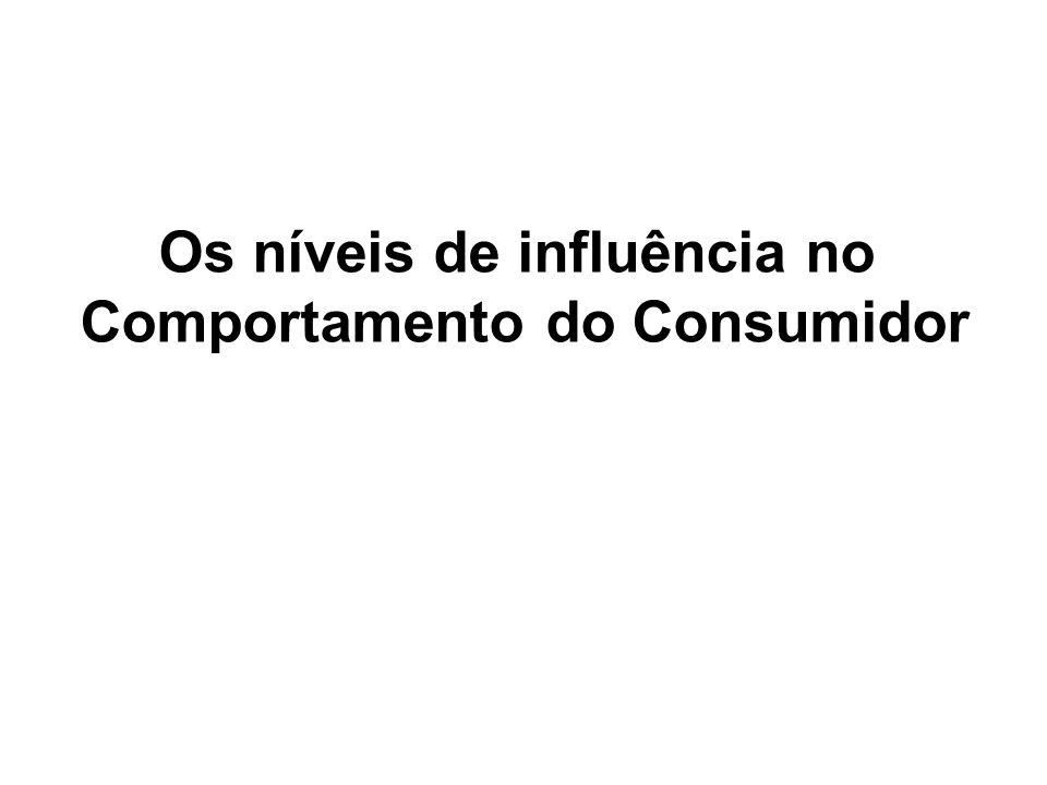 Os níveis de influência no Comportamento do Consumidor