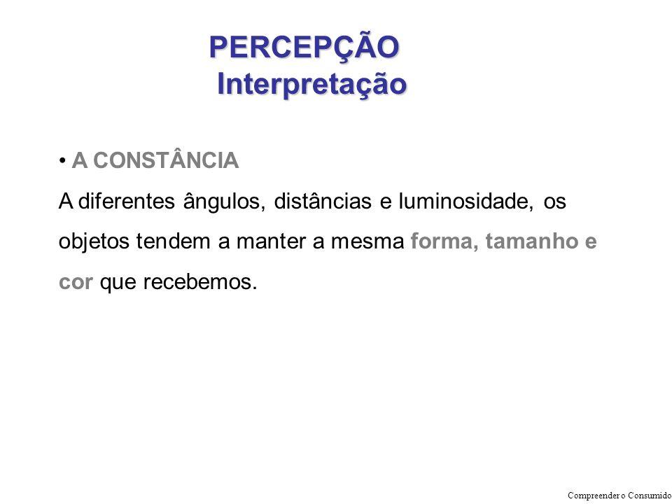 PERCEPÇÃO Interpretação A CONSTÂNCIA