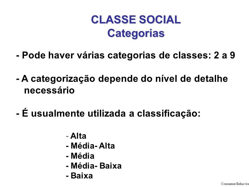 CLASSE SOCIAL Categorias