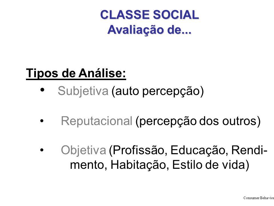 CLASSE SOCIAL Avaliação de...