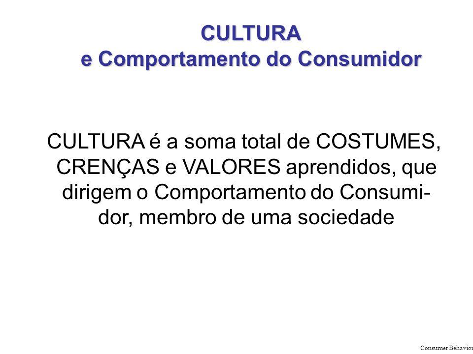 CULTURA e Comportamento do Consumidor