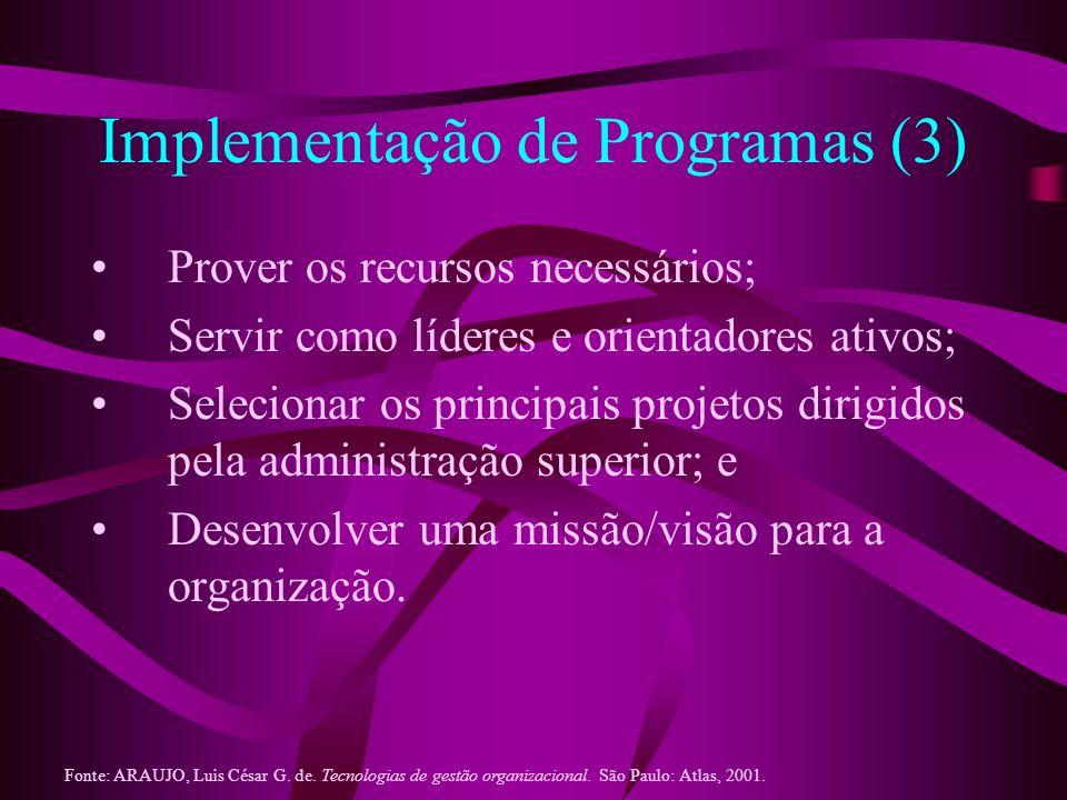 Implementação de Programas (3)