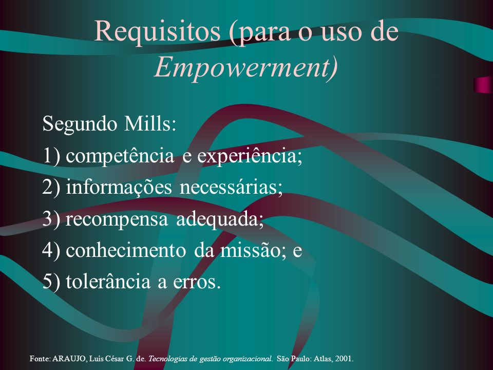 Requisitos (para o uso de Empowerment)