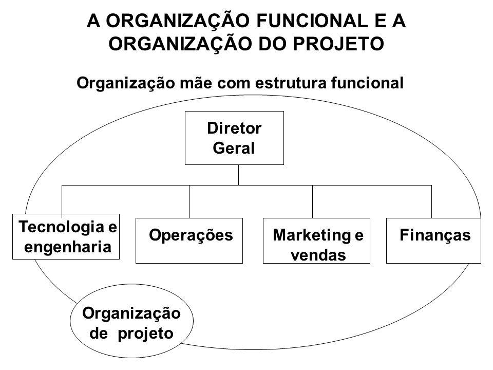 A ORGANIZAÇÃO FUNCIONAL E A ORGANIZAÇÃO DO PROJETO