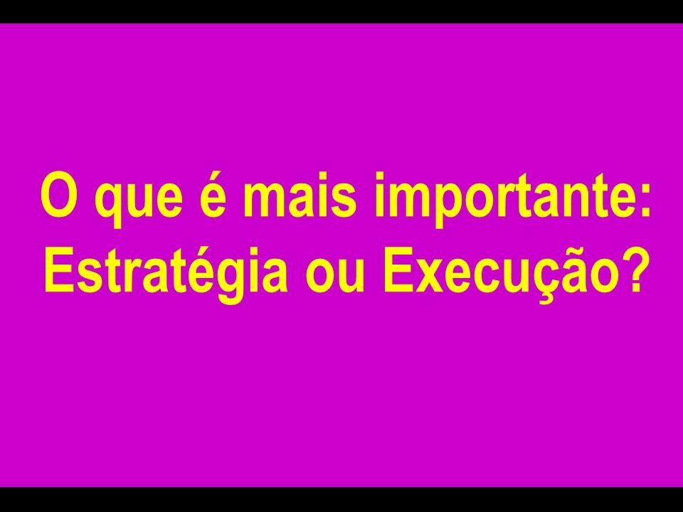O que é mais importante: Estratégia ou Execução