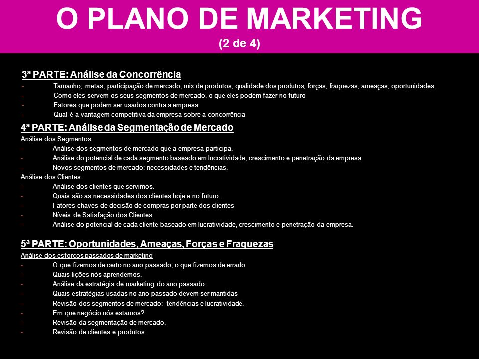 O PLANO DE MARKETING (2 de 4)