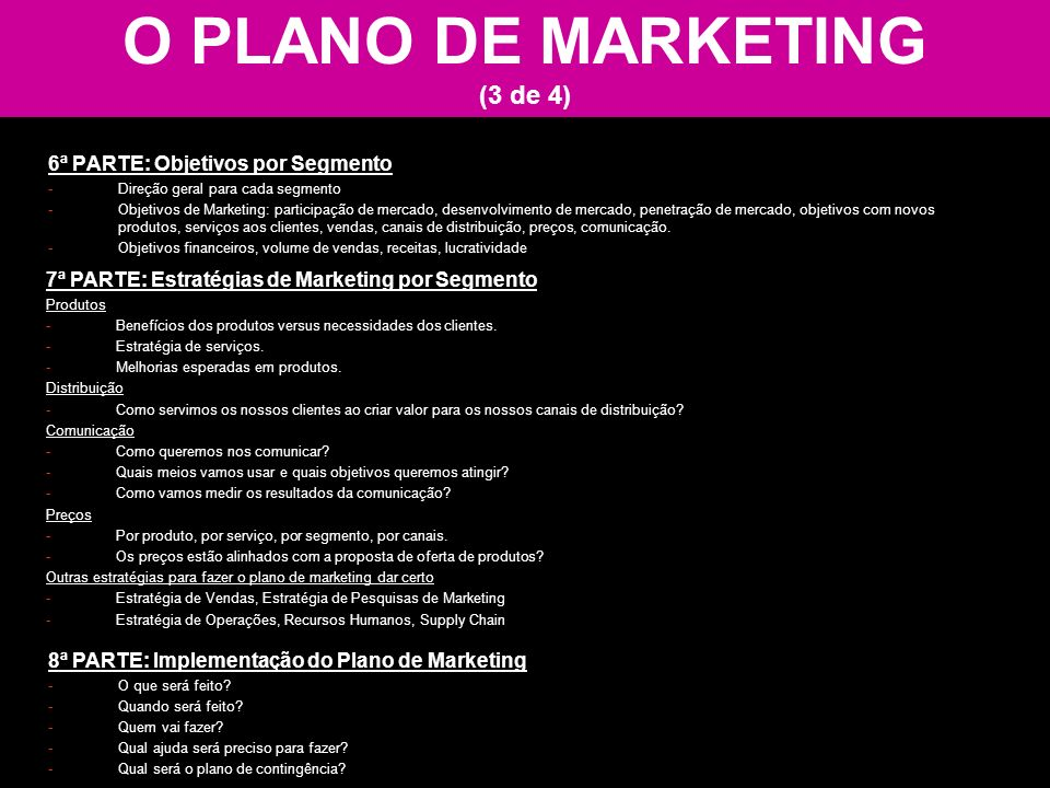 O PLANO DE MARKETING (3 de 4)