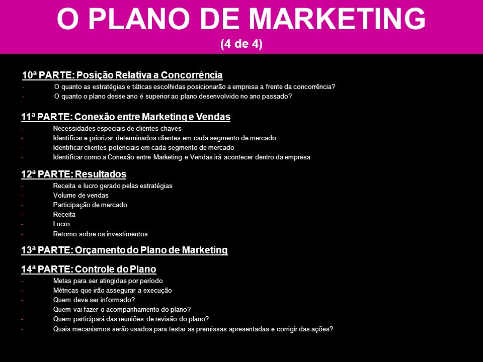 O PLANO DE MARKETING (4 de 4)