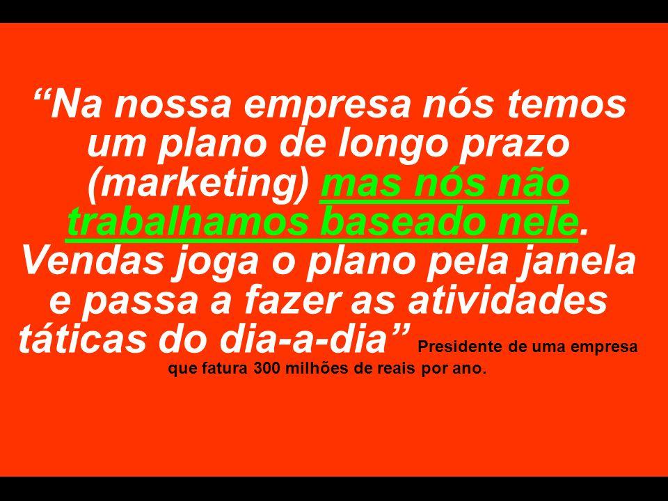 Na nossa empresa nós temos um plano de longo prazo (marketing) mas nós não trabalhamos baseado nele.
