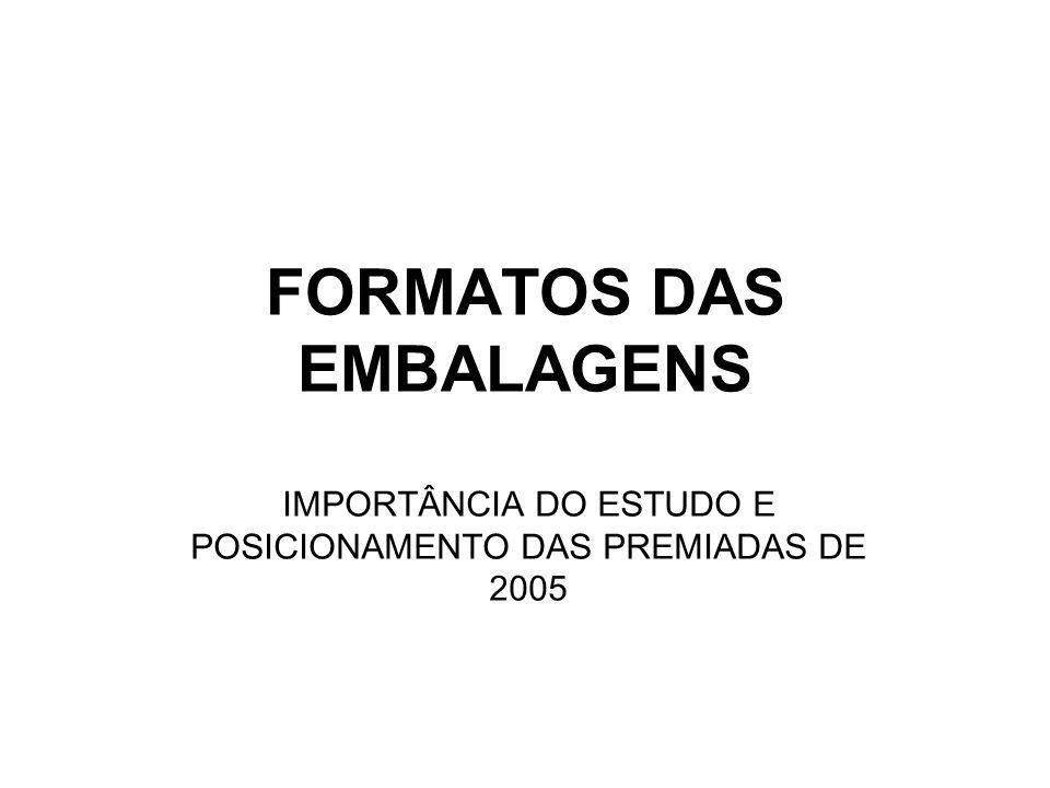 FORMATOS DAS EMBALAGENS
