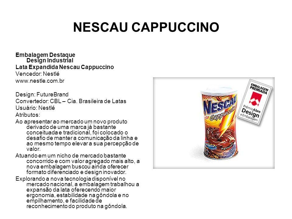 NESCAU CAPPUCCINO Embalagem Destaque Design Industrial