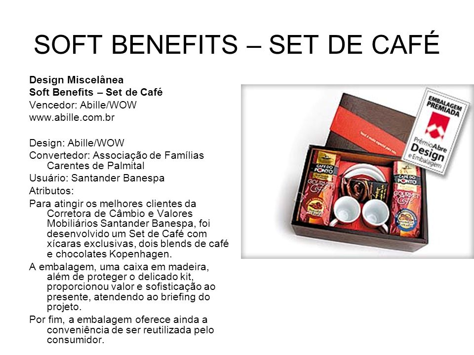 SOFT BENEFITS – SET DE CAFÉ