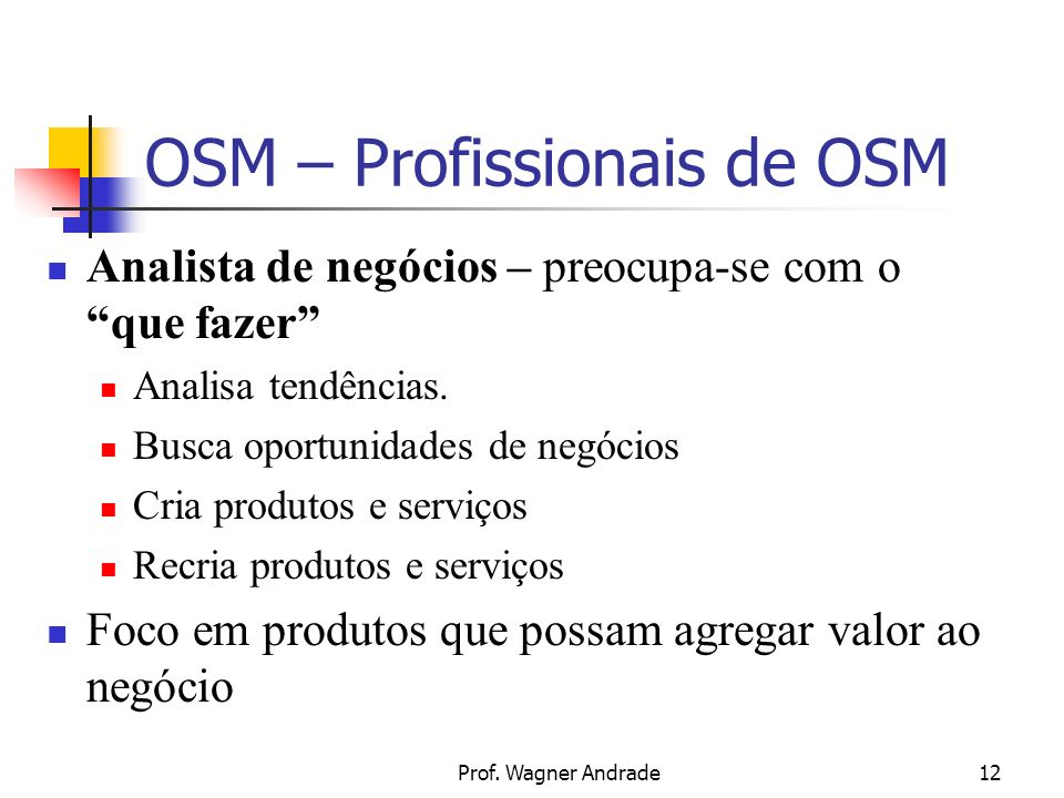 OSM – Profissionais de OSM