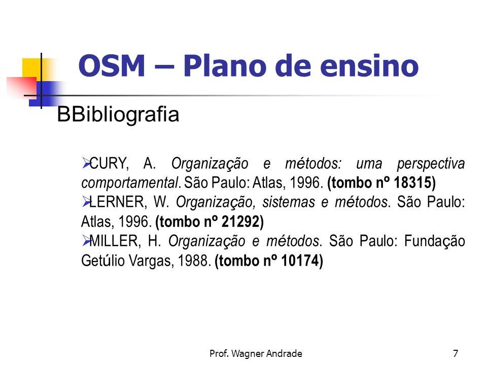 OSM – Plano de ensino BBibliografia