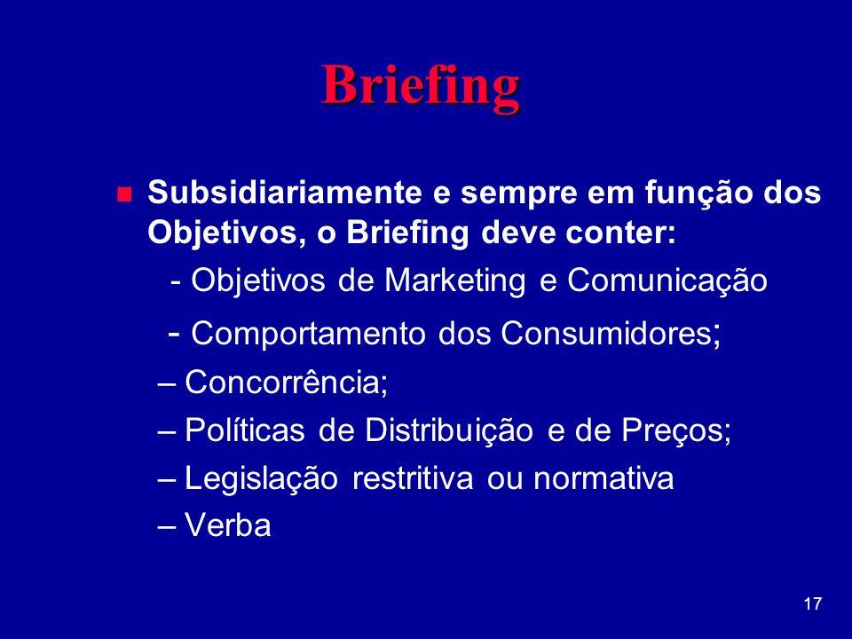 Briefing - Comportamento dos Consumidores;