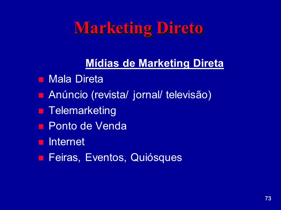 Mídias de Marketing Direta