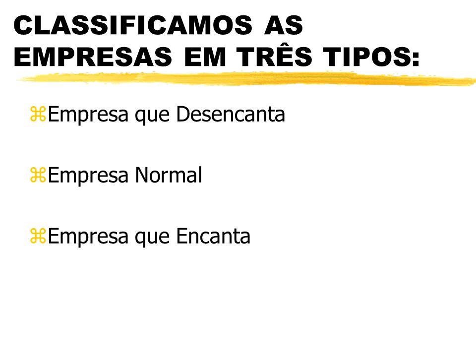 CLASSIFICAMOS AS EMPRESAS EM TRÊS TIPOS:
