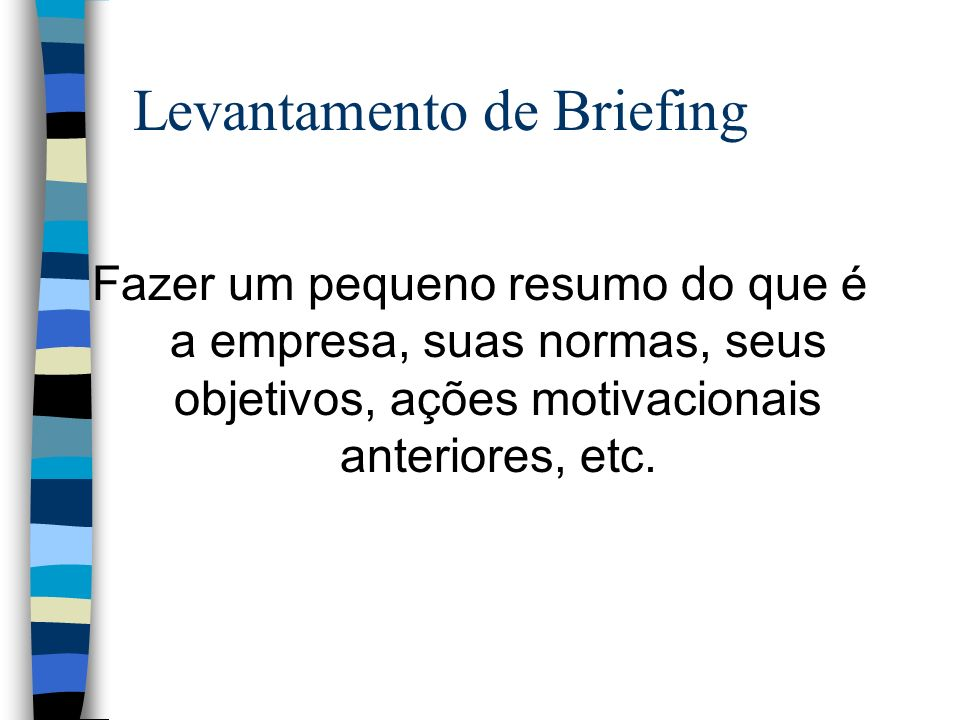Levantamento de Briefing