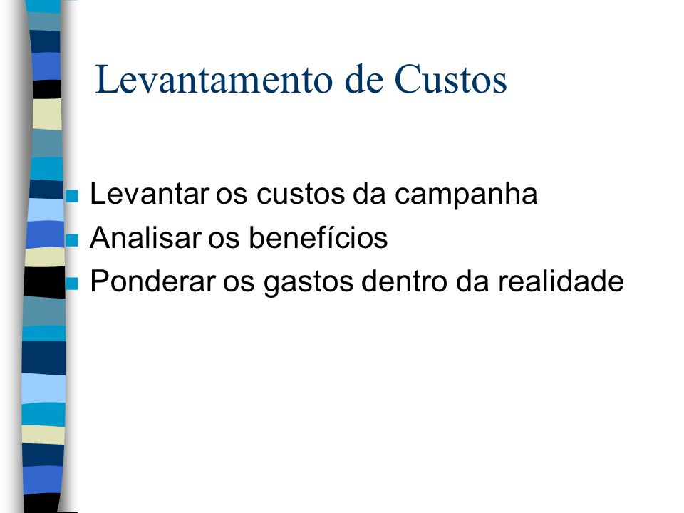 Levantamento de Custos