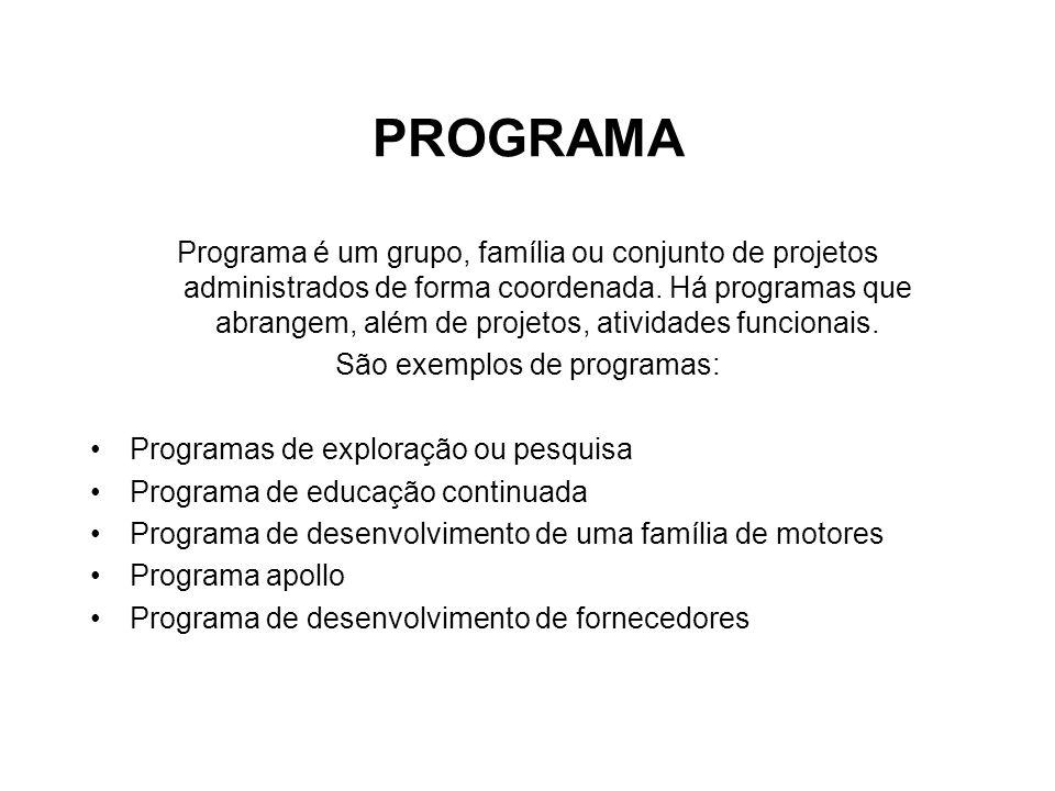 São exemplos de programas:
