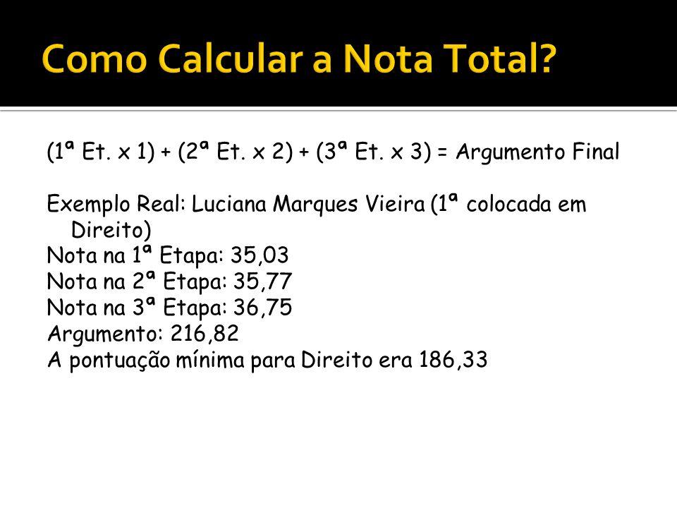 Como Calcular a Nota Total