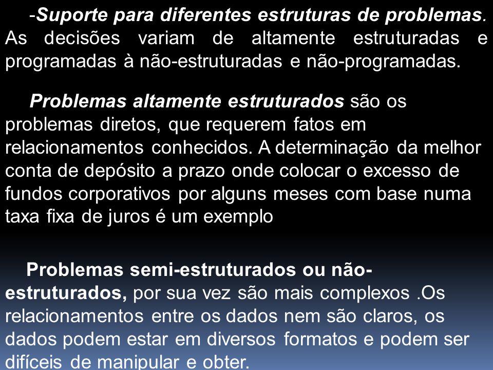 -Suporte para diferentes estruturas de problemas