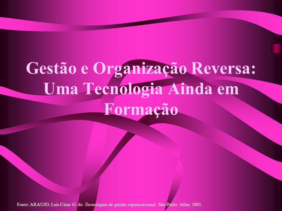 Gestão e Organização Reversa: Uma Tecnologia Ainda em Formação