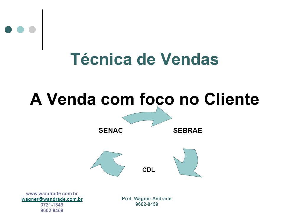Técnica de Vendas A Venda com foco no Cliente
