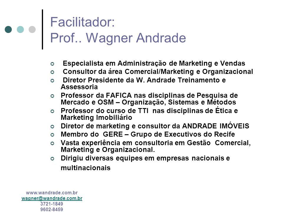 Facilitador: Prof.. Wagner Andrade