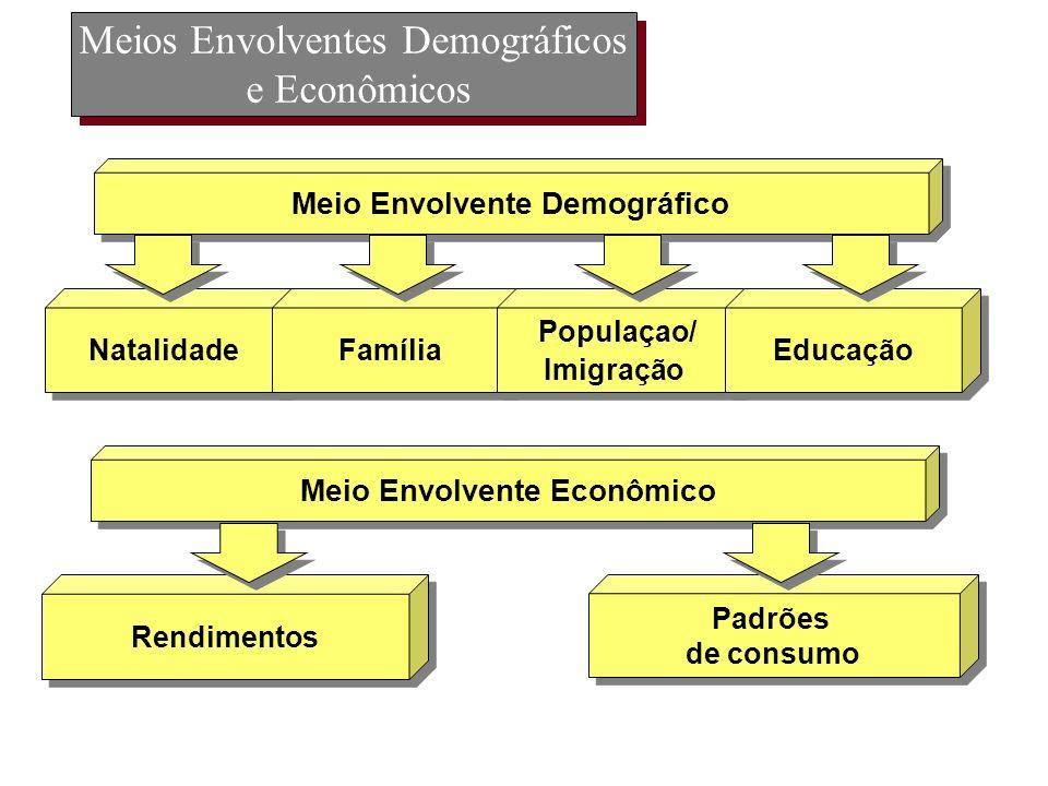 Meios Envolventes Demográficos e Econômicos