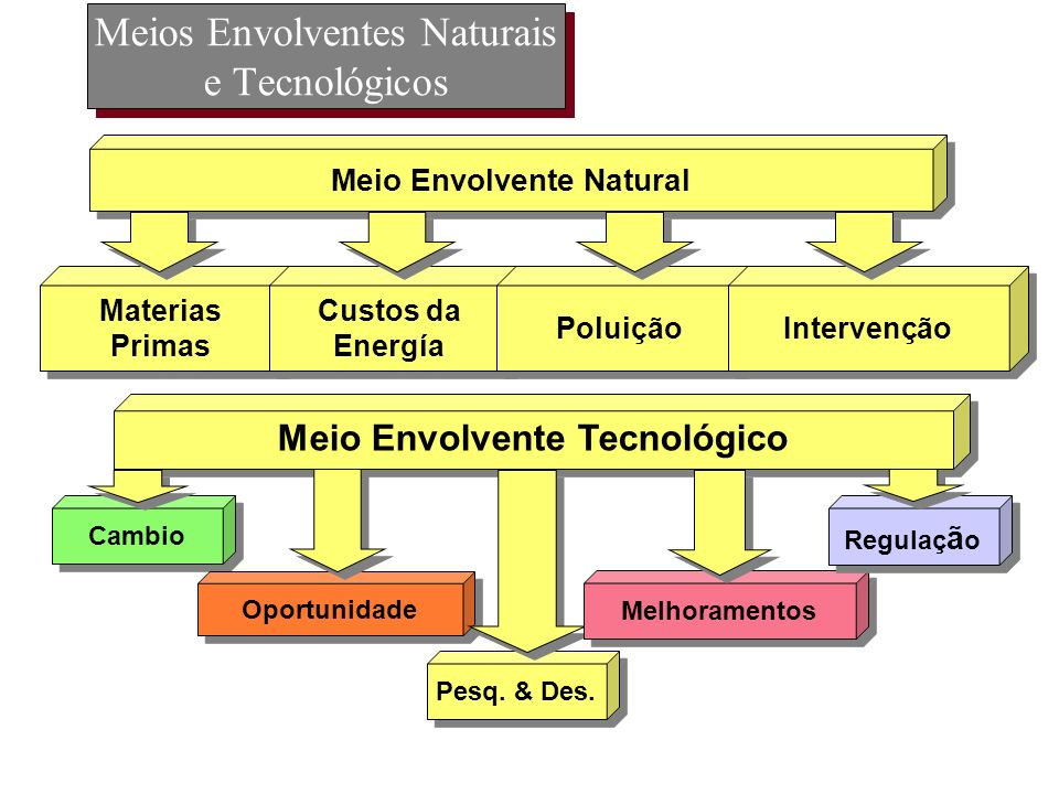 Meios Envolventes Naturais e Tecnológicos