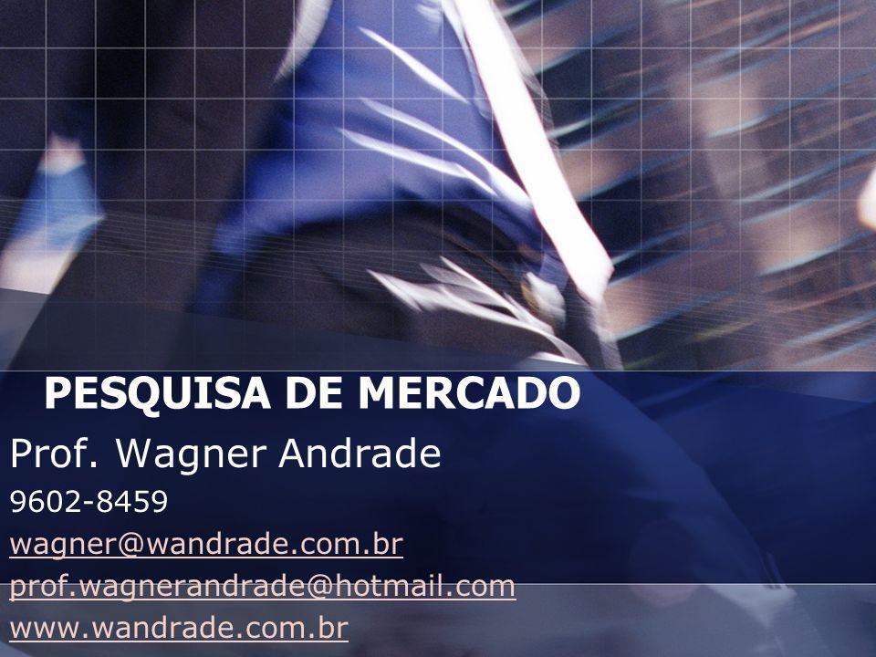 PESQUISA DE MERCADO Prof. Wagner Andrade 9602-8459