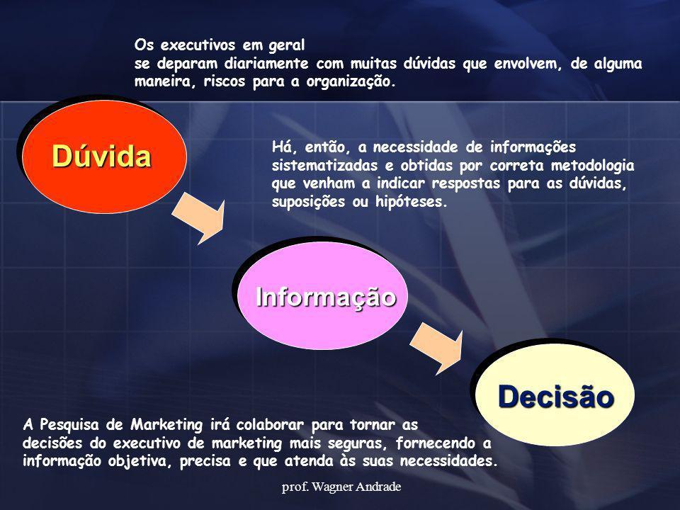 Dúvida Decisão Informação Os executivos em geral