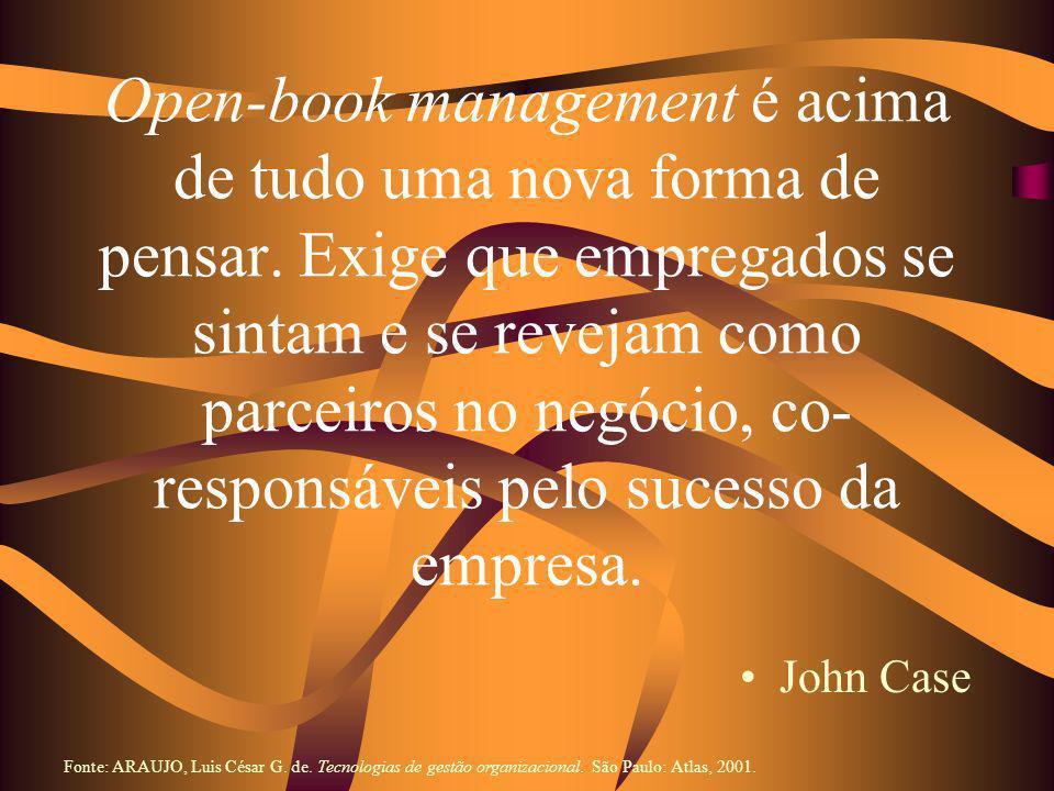 Open-book management é acima de tudo uma nova forma de pensar