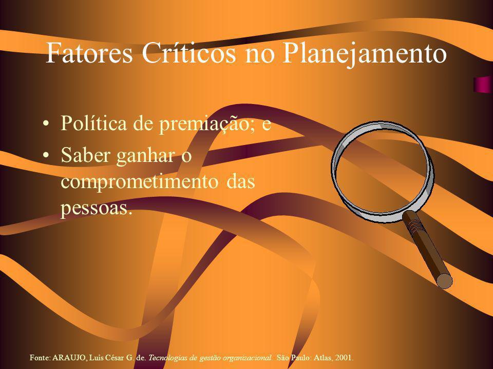 Fatores Críticos no Planejamento