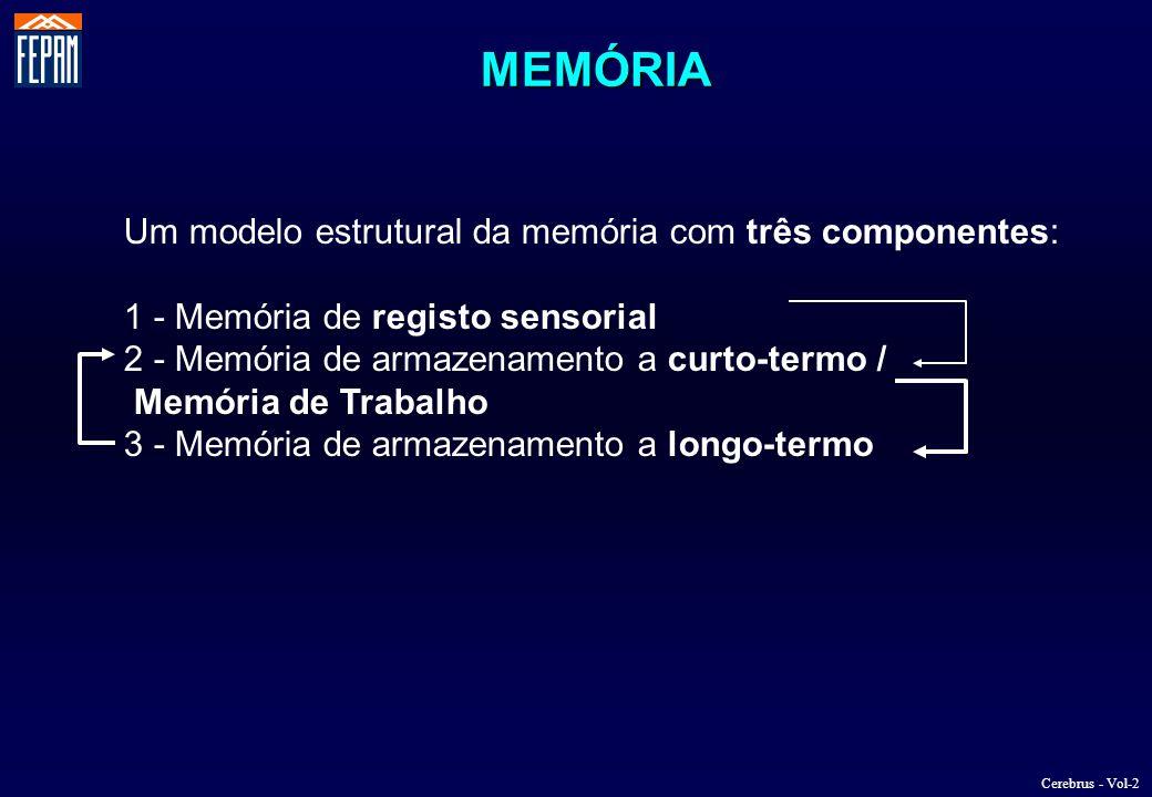 MEMÓRIA Um modelo estrutural da memória com três componentes: