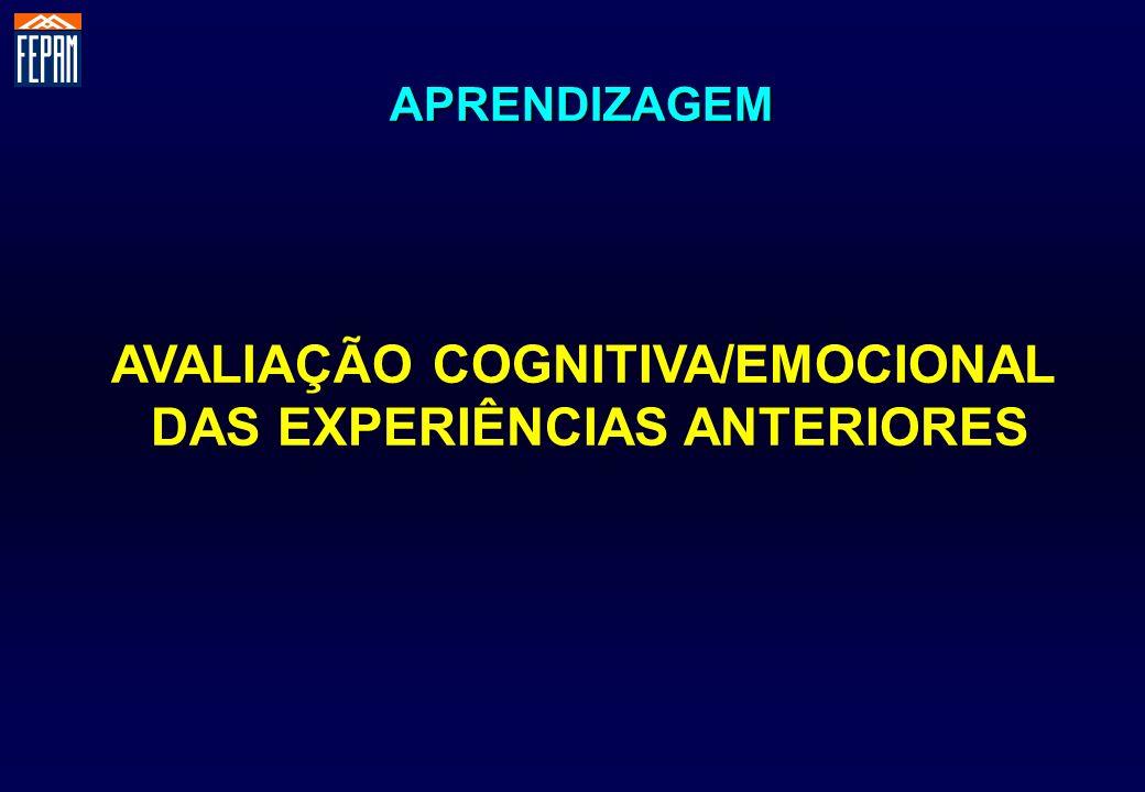 AVALIAÇÃO COGNITIVA/EMOCIONAL DAS EXPERIÊNCIAS ANTERIORES