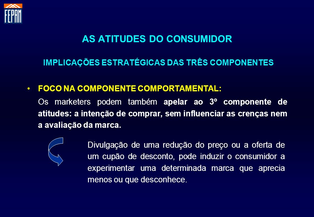 AS ATITUDES DO CONSUMIDOR IMPLICAÇÕES ESTRATÉGICAS DAS TRÊS COMPONENTES