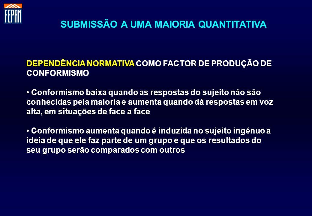 SUBMISSÃO A UMA MAIORIA QUANTITATIVA